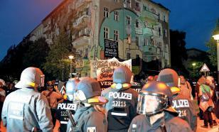 Берлин: левые активисты, защищающие сквоттеров, устроили марш протеста