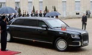 Путин прибыл на саммит в Париже на лимузине Aurus
