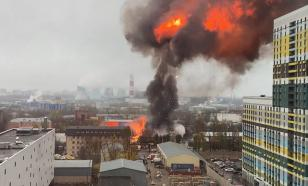 В Москве произошло обрушение склада с газовыми баллонами