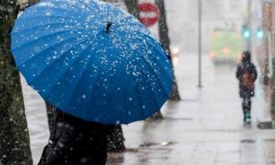 Москвичам пообещали дождь и мокрый снег в начале следующей недели