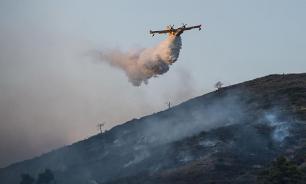 Лесной пожар начался в окрестностях Сочи