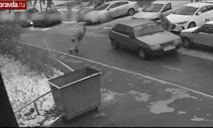 Банда грабителей с баллонным ключом попала на видео