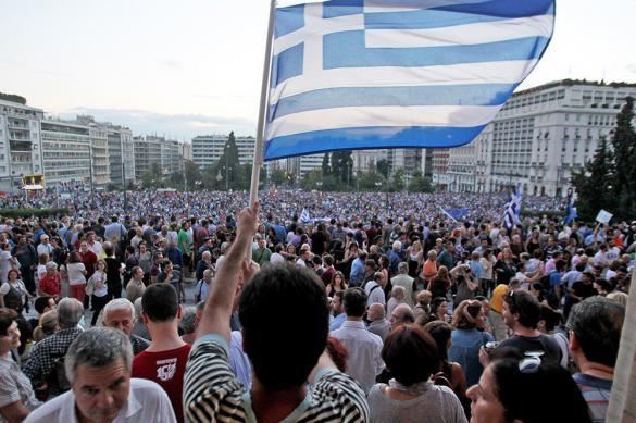 В Афинах прошел первомайский митинг