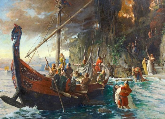 В Норвегии обнаружили захоронение викингов с кораблём и залом для пиров