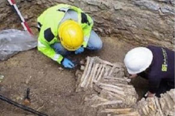 В Бельгии археологи нашли стену из человеческих костей