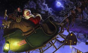 Волшебная упряжка Санта-Клауса пролетела над Россией