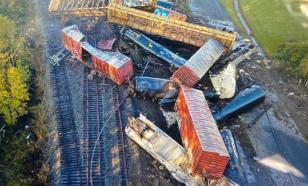 Грузовой поезд с химическими веществами сошёл с рельсов в Техасе