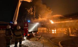 Момент взрыва на нефтехимическом заводе в Уфе попал на камеры