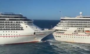 Два круизных лайнера столкнулись в Карибском море
