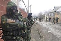 Силовики окружили дом с боевиками в Махачкале.