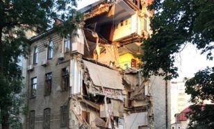 Повреждение газовой трубы привело к обрушению дома в Одессе