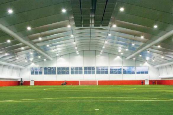 В Уфе начали строительство футбольного манежа за бюджетный счёт