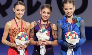 Команда Тутберидзе поздравила Щербакову и замазала фамилию Косторной