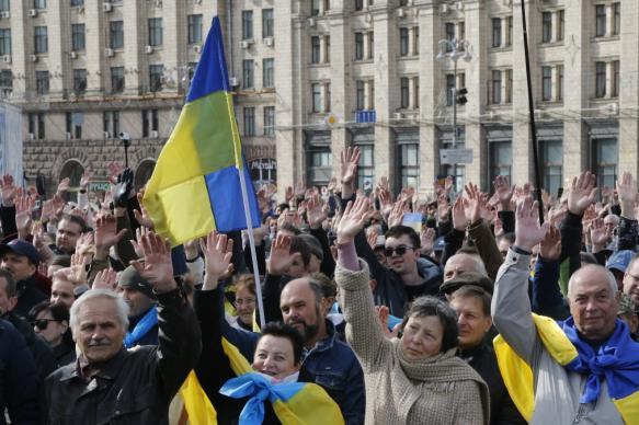 """Митинги против """"формулы Штайнмайера"""" прошли в украинских городах"""