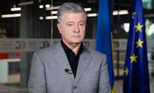 Порошенко облили зелёнкой в центре Киева