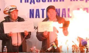 Глава профсоюза сжег себя  из-за приватизации завода. Видео