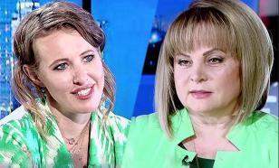 Собчак сцепилась с Эллой Памфиловой по поводу честности выборов