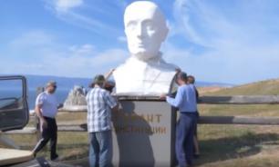 На Байкале в знак протеста снесли бюст Путину
