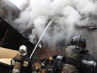 Крупный пожар вспыхнул в Новосибирске.