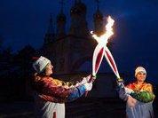 Олимпийский огонь встретили хлебом и солью в Тобольске