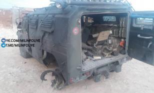 Опубликовано фото взорванного в Сирии автомобиля российских военных