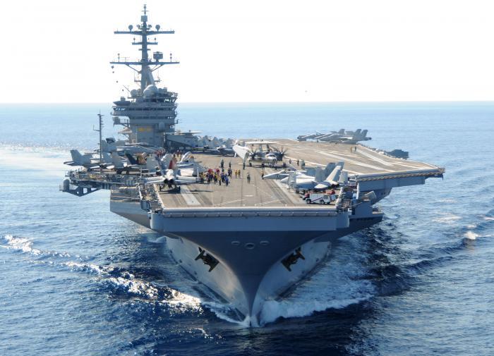 Пентагон увёл из Персидского залива свой авианосец