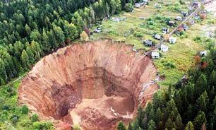 Огромная воронка в Соликамске за год увеличилась в два раза