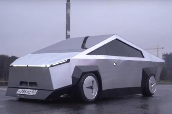 """Московские блогеры сделали Tesla Cybertruck из """"девятки"""""""