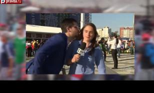 Поцелуй в прямом эфире и другие казусы на ЧМ в России