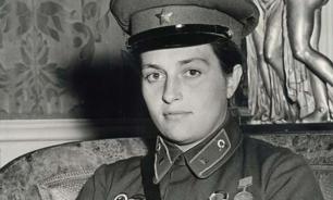 Советский снайпер на приеме первой леди США