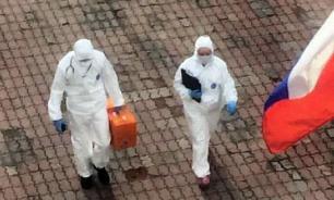 Москвичей призывают не выходить из дома с помощью громкоговорителей