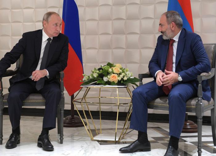 Пашинян обратился к Путину с просьбой о военной помощи в рамках ОДКБ