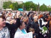 Славянск отпраздновал День Победы и спел гимн СССР