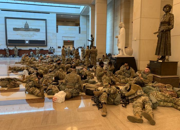 Капитолий США стал военной базой и останется ею до инаугурации Байдена