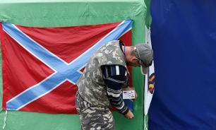 В Николаеве неизвестные подняли знамя Новороссии
