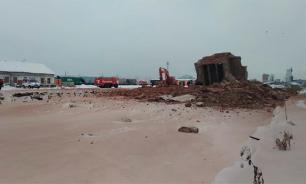 В Омской области обрушилось здание. Один человек погиб