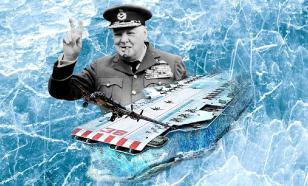 Британский корабль изо льда и опилок идет на войну