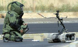 Инженеры применили робота для разминирования путей следования войск
