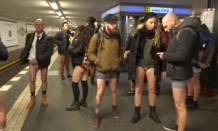 """По миру прошла акция """"В метро без штанов"""""""