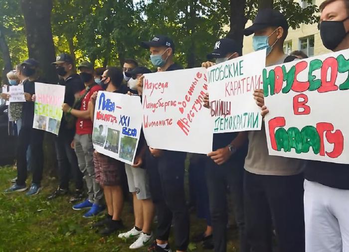 Белорусы возмутились смертью беженца и вышли на митинг против политики Литвы