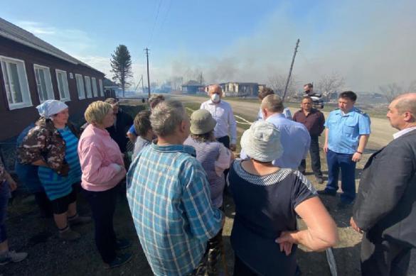 В селе Постниково Кемеровской области сгорело 15 жилых домов