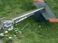 Легкомоторный самолет разбился в Подмосковье.