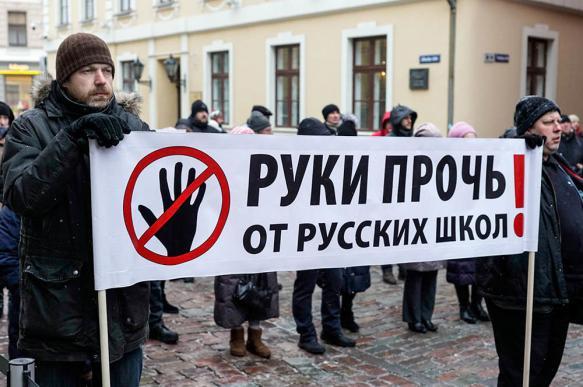 В Риге прошел массовый протест против закрытия русскоязычных школ