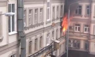В хостеле в центре Москвы вспыхнул пожар