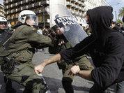 В ходе беспорядков в Афинах пострадали 23 полисмена