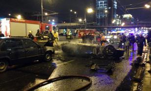Водитель Ferrari не справился с управлением в центре Москвы
