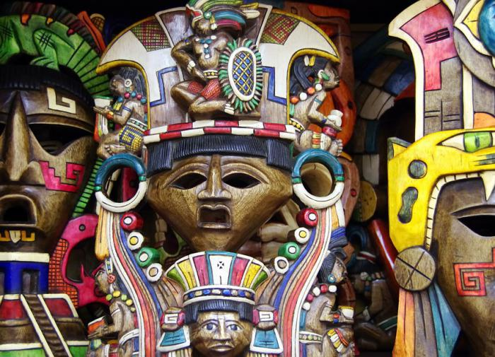 Какие цвета использовали представители культуры майя?