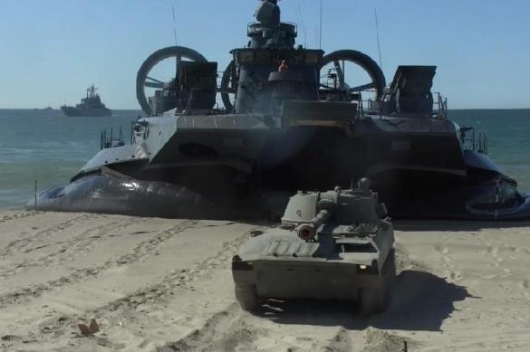 На побережье в Калининградской области высадился десант морской пехоты