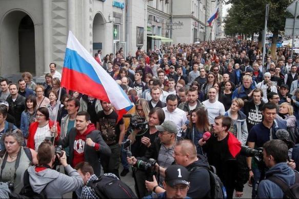 Около 12 тыс. человек пришли на митинг в связи с выборами в Мосгордуму