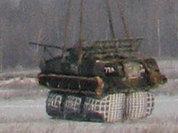 Псковские десантники совершили прыжок в боевой машине